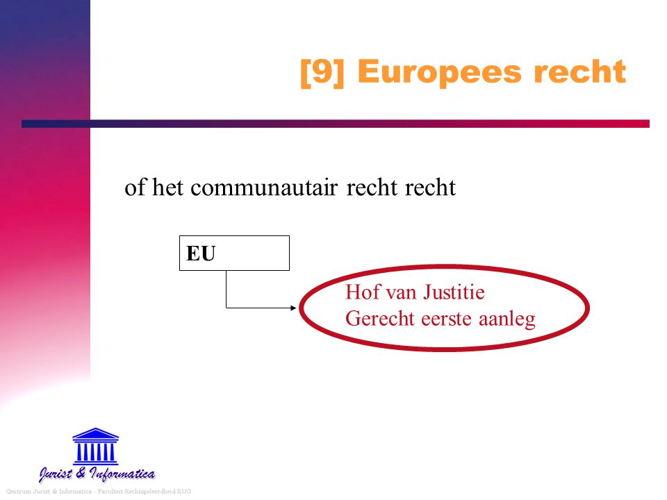 [9] Europees recht of het communautair recht recht EU